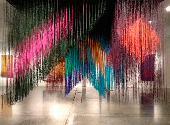 Olga de Amaral, Opening Exhibition 2014, interior1